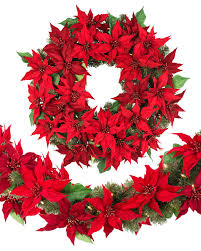 led battery operated poinsettia foliage balsam hill