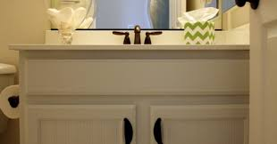 Bathrooms With Beadboard Painted Bathroom Cabinets A Fresh Update With Paint And Beadboard