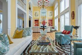 red yellow blue high ceilings living room u2013