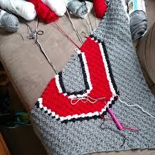 Ohio State Bathroom Accessories by Ohio State Crochet Blanket Crochet Osu Baby Afghan Ohio State