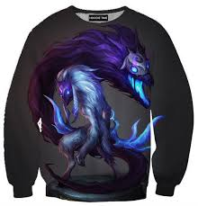 league of legends grim reaper kindred sweatshirt 3d clothing