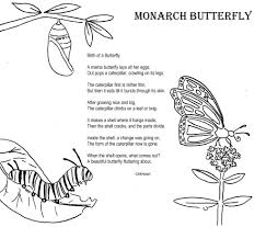 monarch butterfly coloring poem home ideas