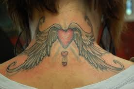with wings tattoos on neck in 2017 photo pictures