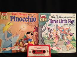 disney pinocchio pigs story books cassette tapes toys