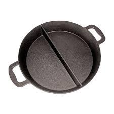 poele de cuisine poêle cuisine géante revêtement platinium 3 compartiments