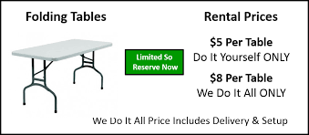 table rental prices here s our 12 foot standing screen rental packages size