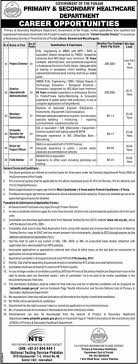 test pattern of hr 1384 primary secondary healthcare department punjab 100 admin it hr