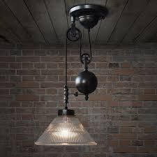 pulley pendant light fixtures bennet ribbed glass cone pulley pendant light tudo co tudo and co