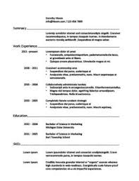 Work Experience In Resume Sample by One Page Resumes When To Use 18 Examples