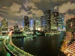 imagenes miami de noche miami florida horizonte nubes de noche descargar fotos gratis