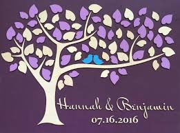 purple guest book wedding guest book alternative unique guestbook wedding sign