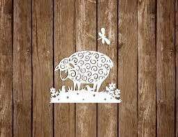 sheep paper cutting template pdf svg cutting files diy card