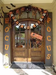 halloween decorations front entry door with cute hocus locus