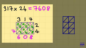 lattice multiplication 3 digits times 2 digits youtube