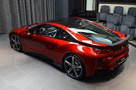 bmw i8 gold lava red bmw i8 built for a princess in abu dhabi supercar report