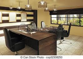 bureau stylé brun style bureau moderne meubles rue vue images de stock