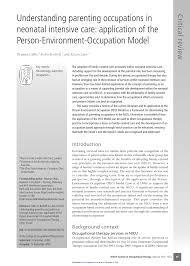 Responsibilities Of A Neonatal Nurse Understanding Parenting Occupations In Neonatal Intensive Care