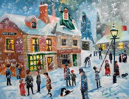 a christmas snow a christmas carol scrooge winter snow llighter painting by