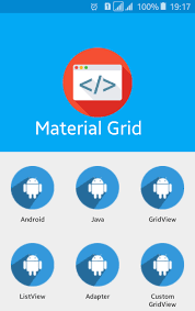 android studio dashboard tutorial android material design gridview viral android tutorials