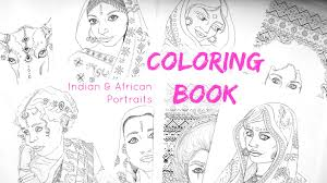 printable coloring book african and indian coloring pages