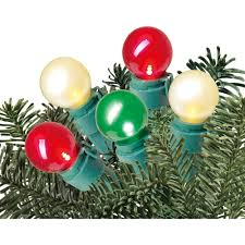 simple ideas pearl lights string of 35 8mm white globe