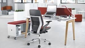 bureau bois acier bureau pour open space en bois en stratifié en acier b free