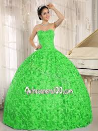 dresses for a quinceanera green strapless sequins and appliques quinceanera dresses