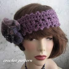 crochet hairband womens crochet headband pattern with faux felt flower trim pdf