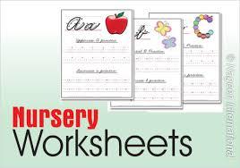 worksheets for nursery of educators
