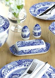 spode blue italian 10 inch dinner plates set of 4 spode uk