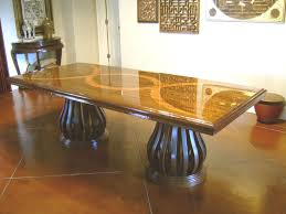 home design stunning inlaid dining table american made room