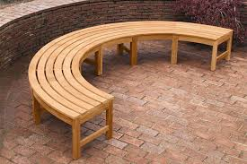 Outdoor Benches Canada Curved Outdoor Bench Looks Wonderful U2014 The Homy Design