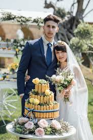 garden wedding inspiration from rome italy with a lemon yellow