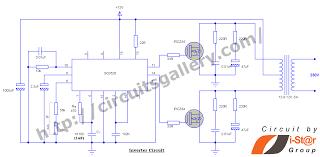skema smps half bridge pwm tl494 shems 12v inverter circuit