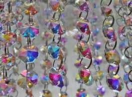 Beaded Chandelier Etsy 14mm Octagon Aurora Borealis Ab Chandelier Drops Cut Glass