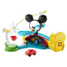Mickey Mouse Clubhouse Bedroom Set Disney Mickey Mouse Zip Slide And Zoom Clubhouse Walmart Com