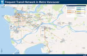 Minneapolis Metro Transit Map by Official Map Vancouver Bc Frequent Transit Transit Maps