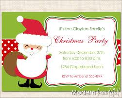 santa claus christmas invitation holiday invitation holiday