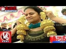 earrings in grt grt jewellers made gold earrings weighing 1kg teenmaar news v6