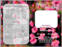 Funeral Bulletin Templates 7 Funeral Bulletinagenda Template Sample Agenda Template Sample