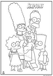 pin magic color book simpsons coloring pages free