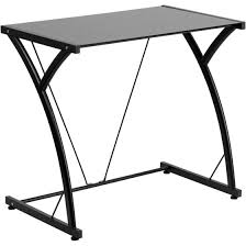 Black Tempered Glass Computer Desk Flash Furniture Contemporary Tempered Glass Computer Desk With