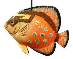 nautical tiki tropical fish ornament 3d 4 inch orn07