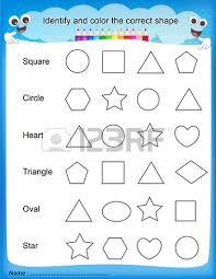identify and color the correct shape colorful printable kids