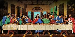the last supper plates the last supper by leonardo da vinci recreated in recycled vintage