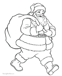 coloring pages to print of santa free printable coloring pages for kids santa coloring page free