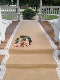 aisle runners for weddings wedding designs burlap and ivory lace aisle