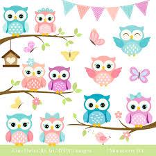 Decorative Owls by Owls Clipart U0027cute Owl Clipart U0027 Digital Owls Clipart