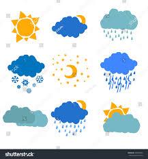 set nine hand drawn flat weather stock vector 268840952 shutterstock