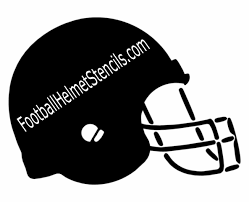 free printable football stencil thin football outline clip art